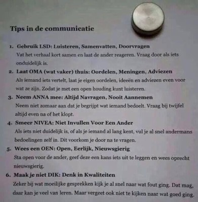 6communicatietips > Tips voor betere communicatie | Leiderschapscoaching